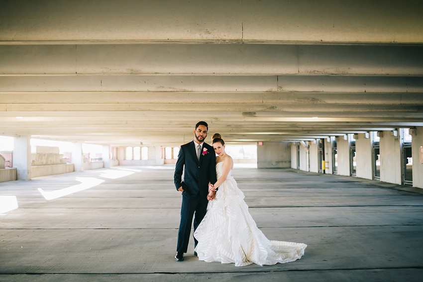 Modern Tampa wedding inspiration in downtown urban loft wedding venue