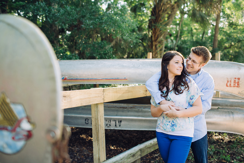 Tampa woodsy engagement session at the Hillsborough River State Park