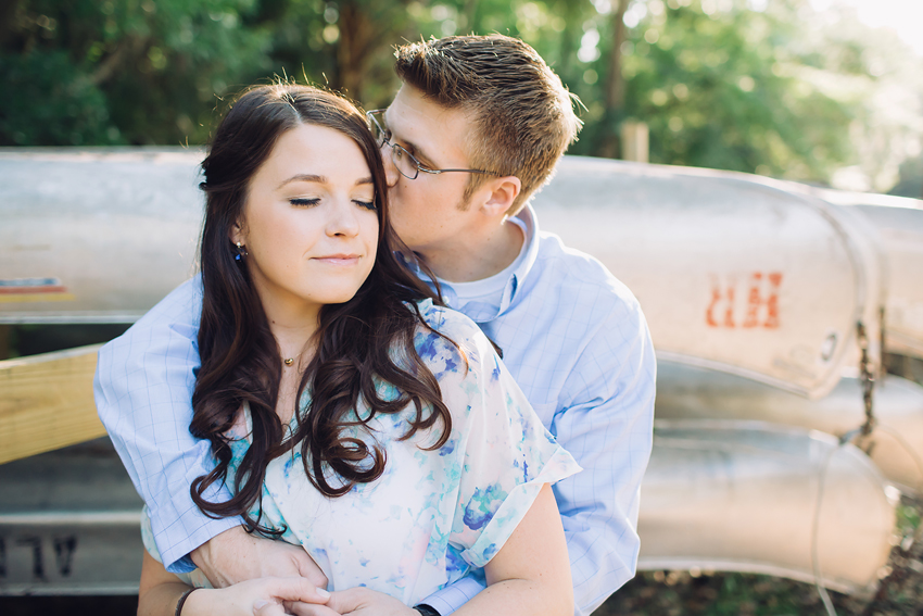 Tampa canoe engagement session at the Hillsborough River State Park
