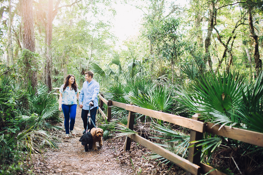 Tampa engagement photography with dogs