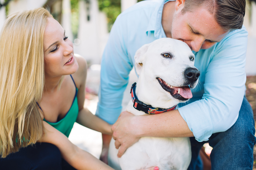 downtown st. petersburg engagement session with a cute dog