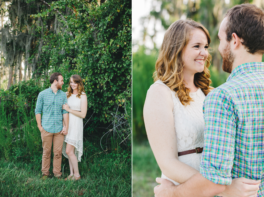 Cute couple laughing and in love at their engagement session