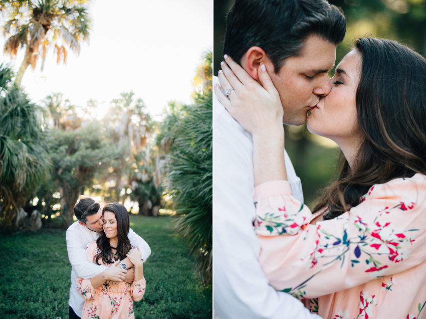 Romantic engagement session in the woods at Fort Desoto
