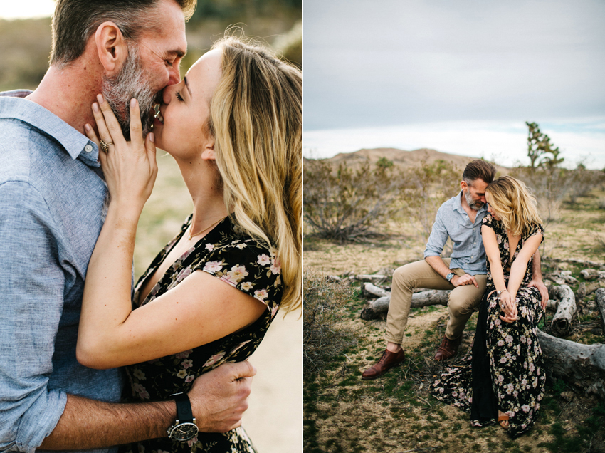 boho engagement session in the desert at Joshua Tree National Park
