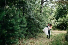 Rustic woodsy farm wedding in the woods at the Pepper Plantation in Charleston by Renee Nicole Photography