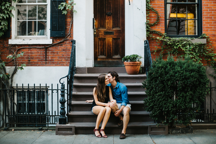 Natural light NYC wedding photography in the west village of manhattan