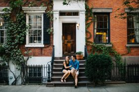 New York City wedding photography with candid and modern photography in the West Village