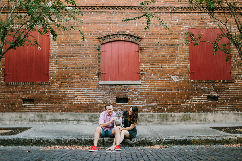Historic Ybor City Engagement session with a puppy
