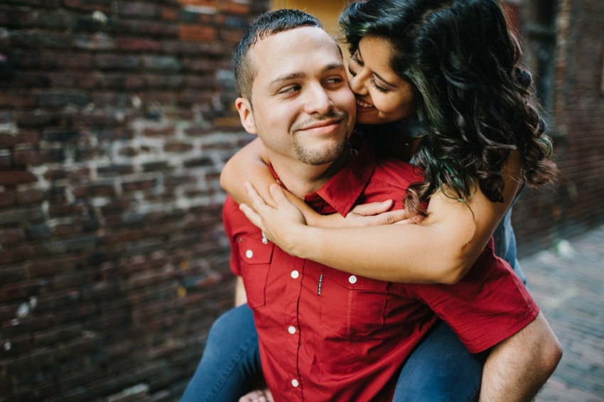natural candid engagement photography and wedding photography in ybor city, florida