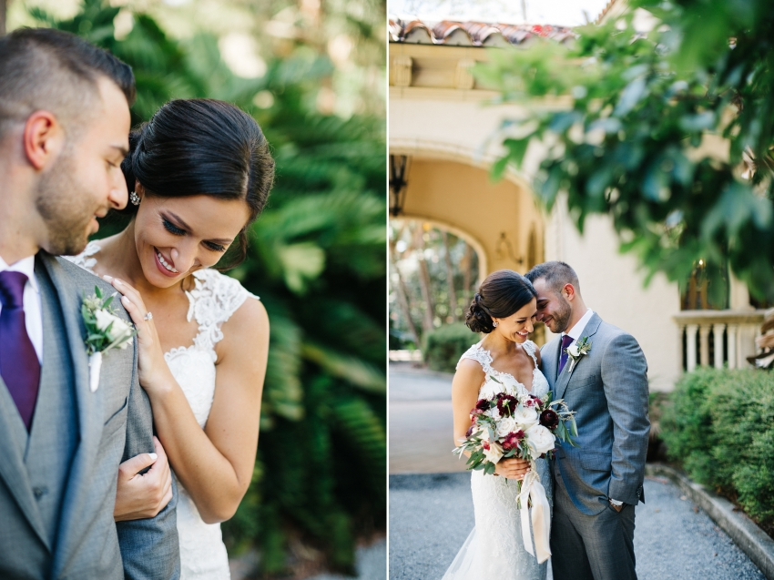 Modern wedding photography in Florida for a garden wedding at the historic Mansion