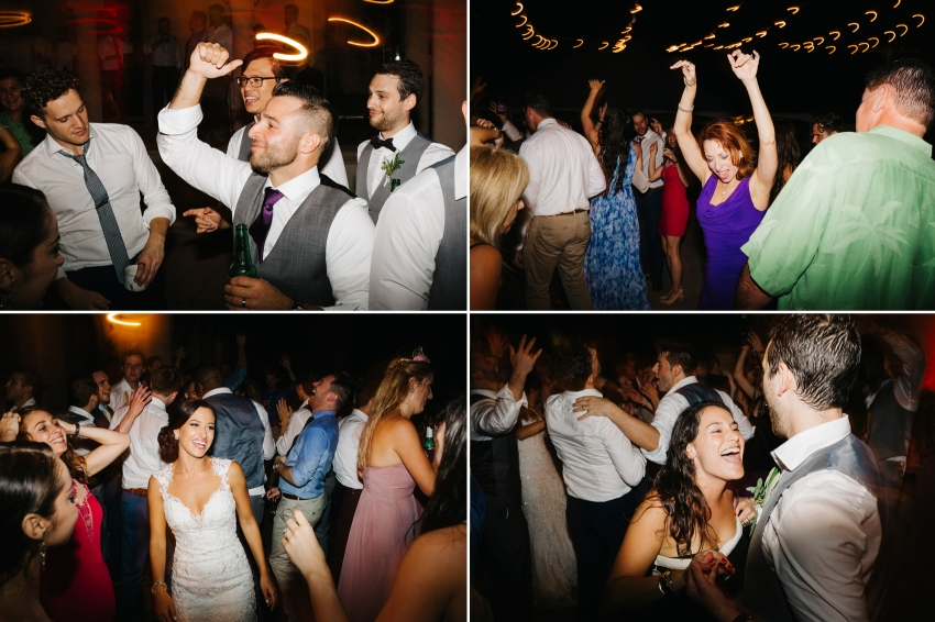 Dancing and partying at the Powel Crosley wedding