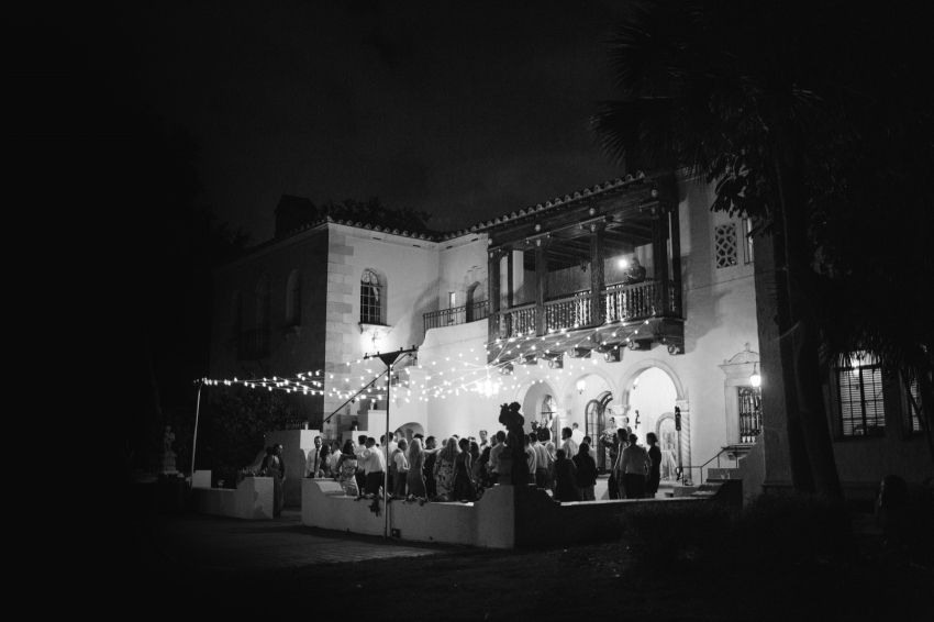 Nighttime reception at the historic Powel Crosley Mansion