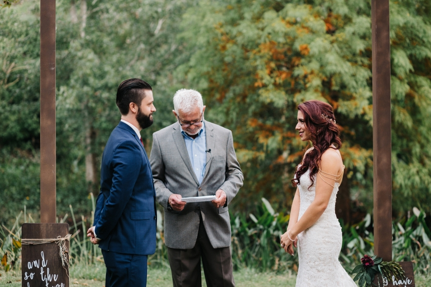 Outdoor garden ceremony in Orlando, Florida