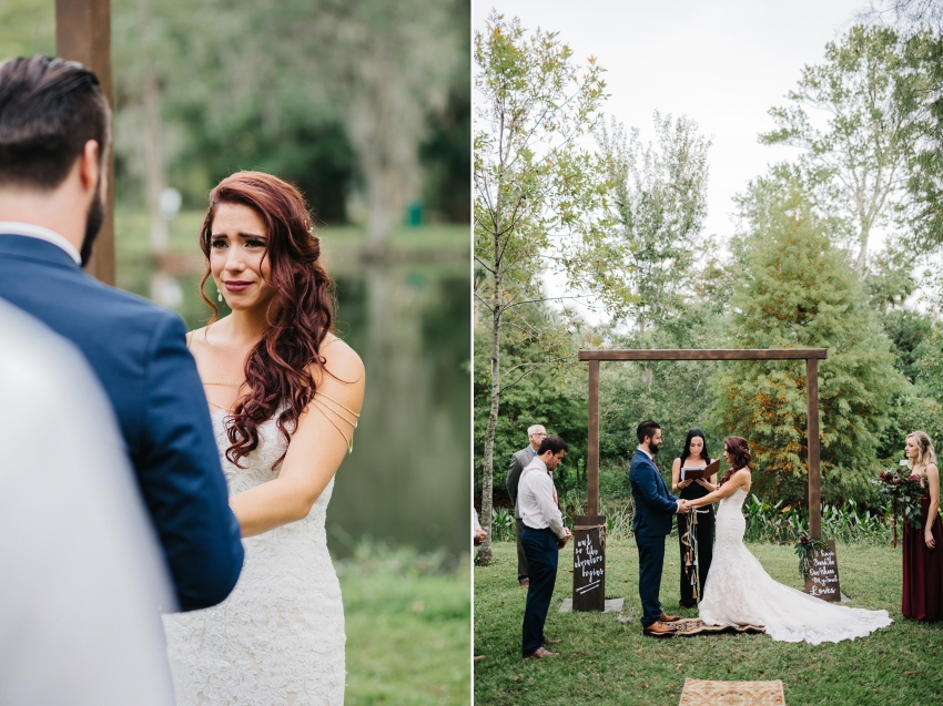 Sweet boho wedding ceremony in Orlando, Florida