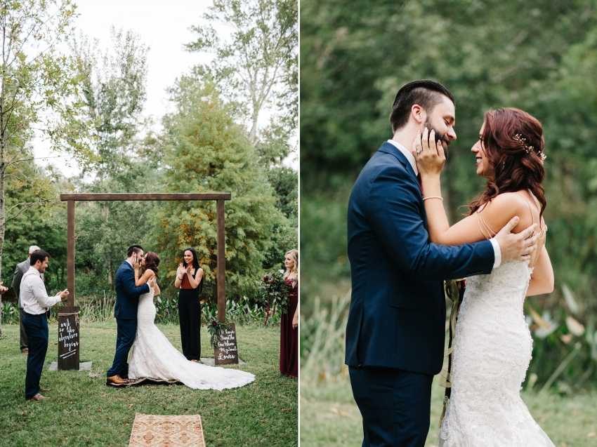 Woodsy wedding in Winter Park with DIY boho decor