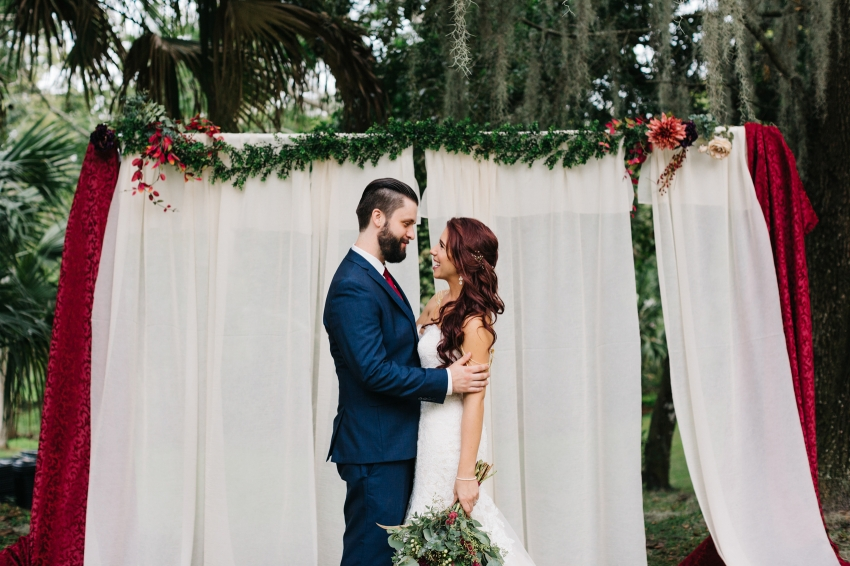 Woodsy boho wedding photography in Orlando, Florida