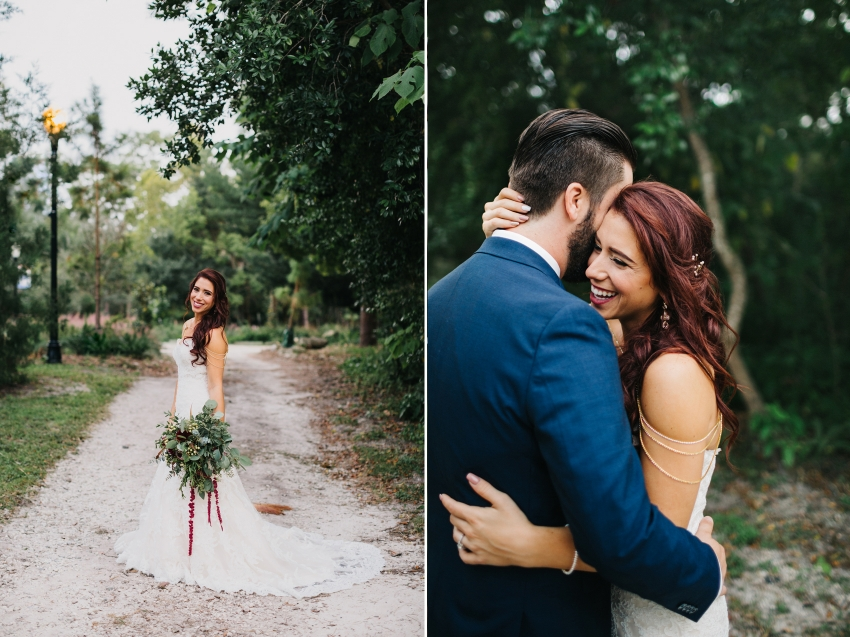 Natural candid wedding photography in Orlando at Mead Garden