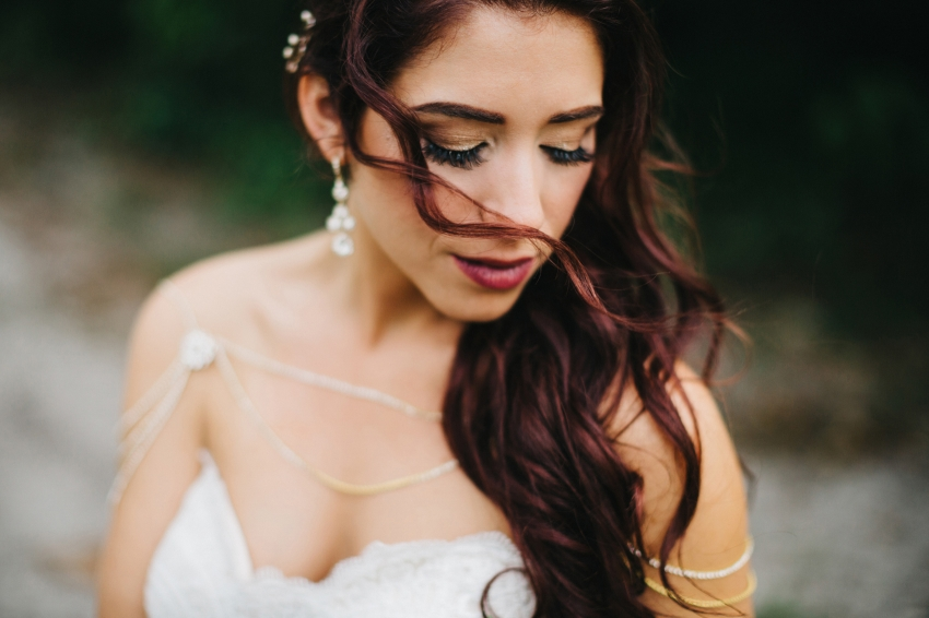 boho bridal styling for outdoor woodsy Orlando wedding