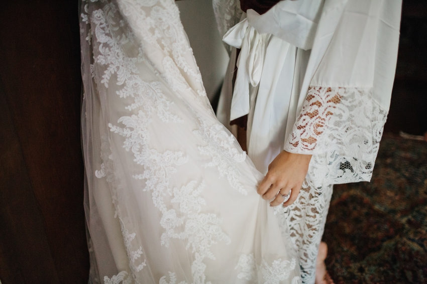 lace details on customized allure bridal dress
