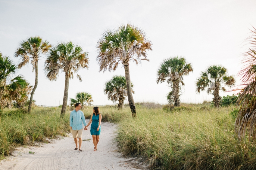 Fort De Soto engagement session on the beach