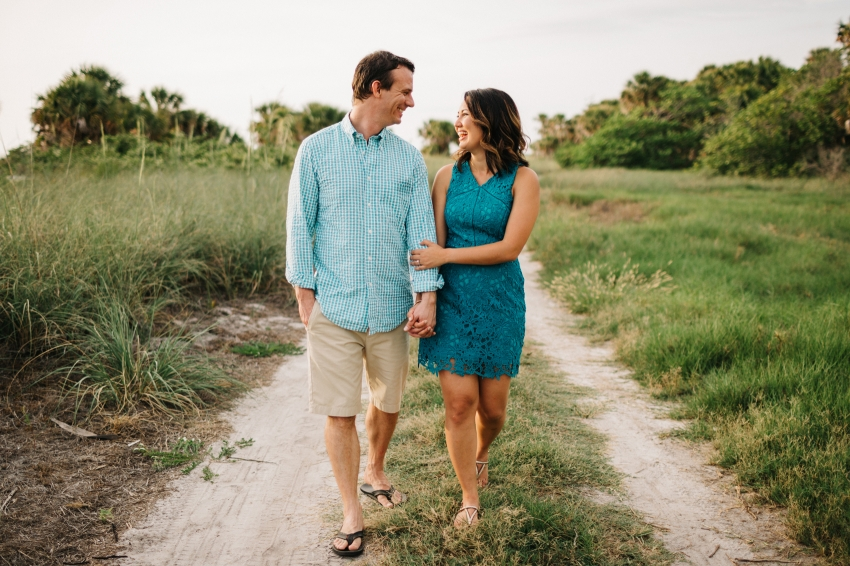 Romantic fun engagement session at Fort De Soto by St. Pete Wedding Photographer
