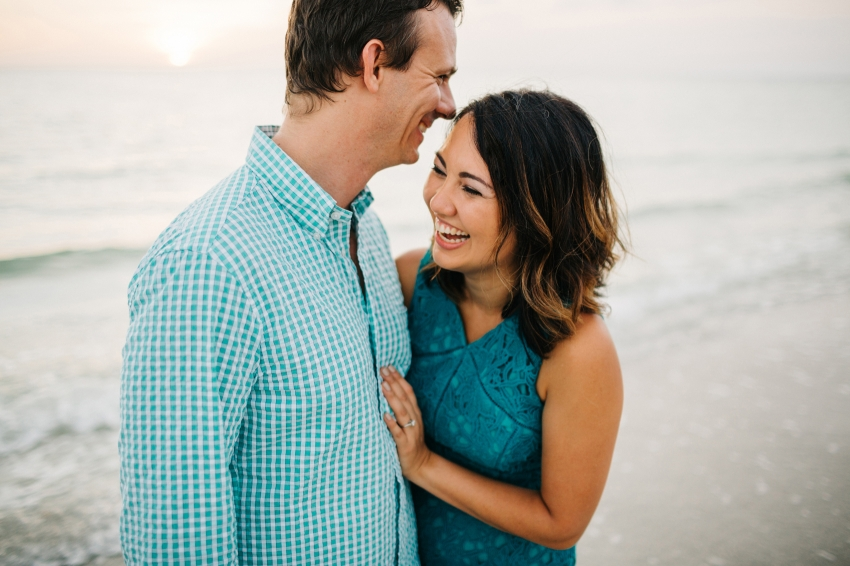Modern candid lifestyle wedding photography and engagement session at sunset in St. Pete Florida