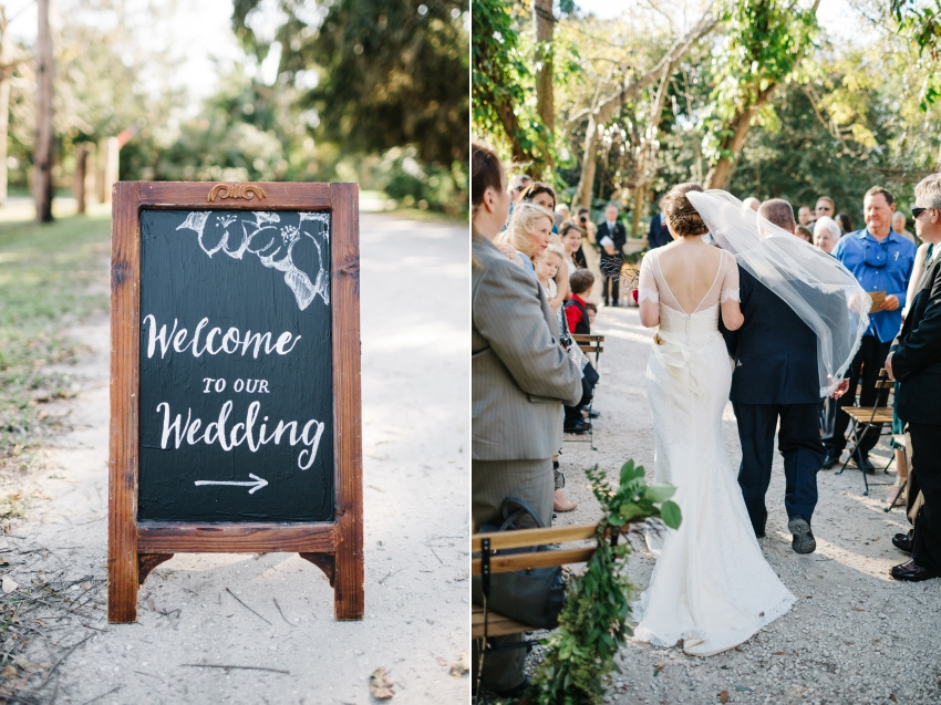 handdrawn chalk signage at the eclectic boho garden wedding