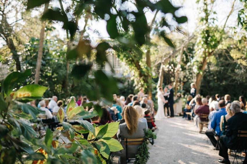 Secret garden wedding in Orlando, Florida