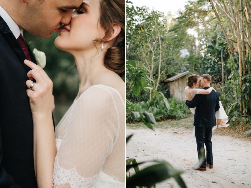 Modern romantic Orlando wedding photography at a outdoor garden wedding