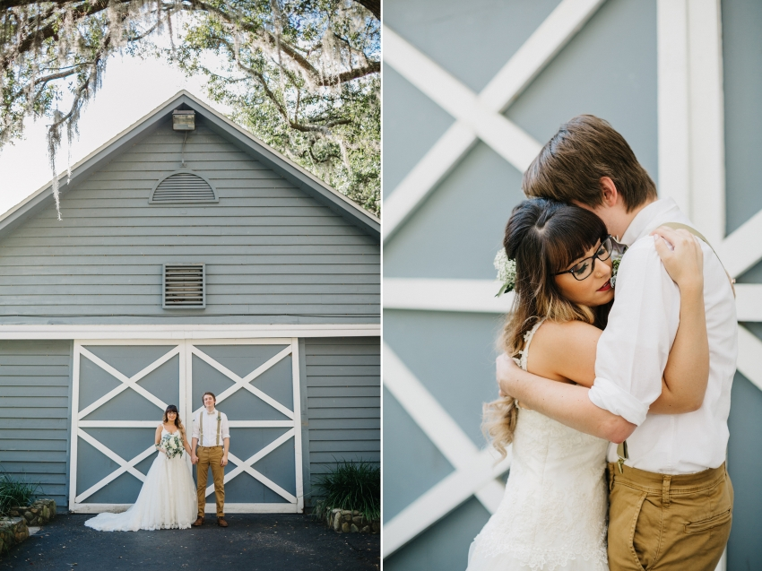 rustic natural light wedding photos at The Lange Farm in Dade City, Florida