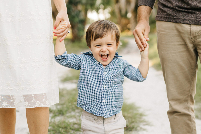 casual and fun toddler family photos