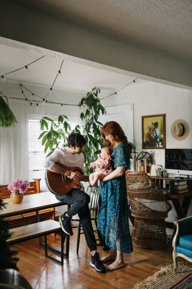 lifestyle session at home with tampa family photographer